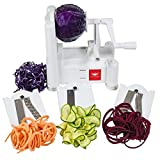 Tri-Blade Vegetable Spiral Slicer By Paderno World Cuisine (A4982799) with Glasslock Oven Safe Box Set with Lids 14-Piece [Best Select]