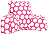 Majestic Home Goods Large Polka Dot Reading Pillow, Hot Pink