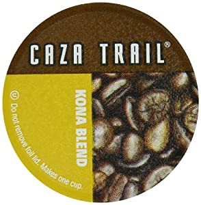 Caza Trail Single Serve Cup for Keurig K-cup Brewers, Kona Blend, 100 Count