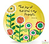"""1 X """"The Joy of the Lord Is My Strength"""" Bone China 8"""" Plate"""