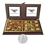 Chocholik Dry Fruits - Perfect Mixer Of Dry Fruits & Baklava With 5gm Pure Silver Coin - Diwali Gifts