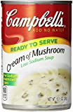 Campbell's Low Sodium Cream of Mushroom Soup, 10.5 oz, 12 Count