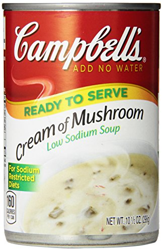 Campbell's Low Sodium Soup, Cream of Mushroom, 10.5 oz ( 12 Ct) (Campbell Cream Of Mushroom compare prices)