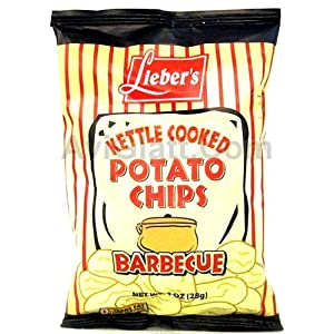 Lieber's Kettle Cooked Barbque Potato Chips 1 oz