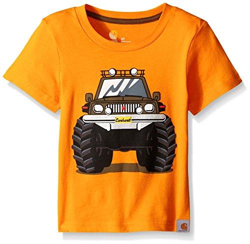 Carhartt Little Boys Monster Truck Tee, Bright Marigold, 5