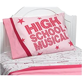 High School Musical Silhouette Twin Sheet Set