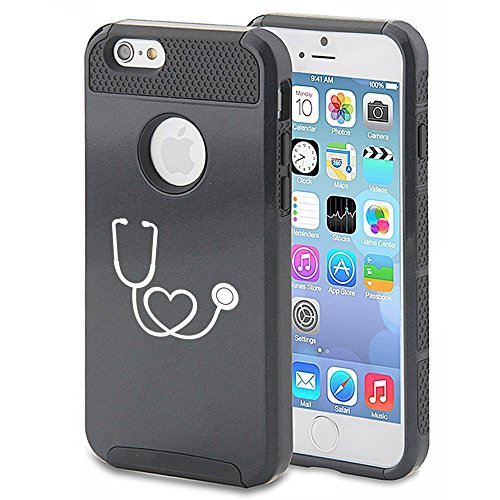 Apple-iPhone-5-5s-Shockproof-Impact-Hard-Case-Cover-Heart-Stethoscope-Nurse-Doctor