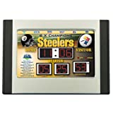"9"" NFL Pittsburgh Steelers LED Digital Scoreboard Alarm Clock Amazon.com"