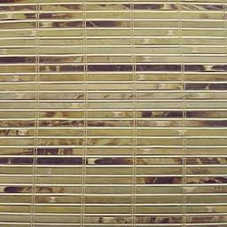 Woven Wood Roman Shades, 42W x 72H, Winthrop Tortoise