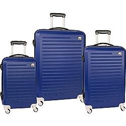 3-Piece Nautica Tide Beach Hardside Spinner Luggage Set - Navy