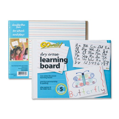 Gowrite Dry Erase 2 Sided Learning Boards, 8.25 X 11 Inches, White, 5 Boards (LB8511) - 1