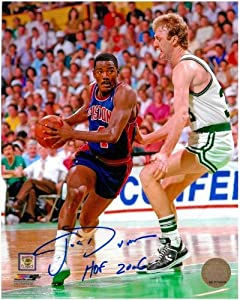 Joe Dumars Autographed Detroit Pistons 8x10 Photo #1 - with Larry Bird (HOF 2006... by Sports Memorabilia