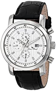 Lucien Piccard Men's LP-12584-02S Toules Analog Display Swiss Quartz Black Watch from Lucien Piccard