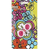 Flower HOLDER & STAND for iPhone 4 & 4S - Comes with a backside protective film with a fun design