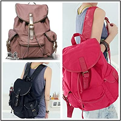 Vintage Fashion Canvas Backpack Rucksack Bag Stylish Practical - 4 Colours