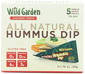 Wild Garden Single Service  Sundried Tomato Hummus Dip, 5-Count (Pack of 6)