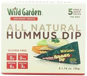 Wild Garden Single Service  Sundried Tomato Hummus Dip, 5-Count (Pack of 6)
