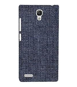 Blue Denim Pattern 3D Hard Polycarbonate Designer Back Case Cover for Xiaomi Redmi Note :: Xiaomi Redmi Note 4G