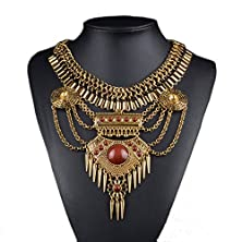 buy Btime Women'S Fashion Multilayer Rivets Alloy Necklace(Golden)