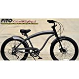 Men's Modena Alloy GT Shimano 7-Speed Beach Cruiser Bike Color: Matte Grey