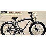 Men's Modena Alloy GT Shimano 7-Speed Beach Cruiser Bike Color: Matte Grey
