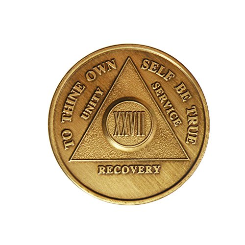 27 Year Bronze AA (Alcoholics Anonymous) - Sober / Sobriety / Birthday / Anniversary / Recovery / Medallion / Coin / Chip by Generic