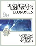 Statistics for Business and Economics (with CD-ROM and InfoTrac) (Statistics for Business & Economics) (032420082X) by David R. Anderson
