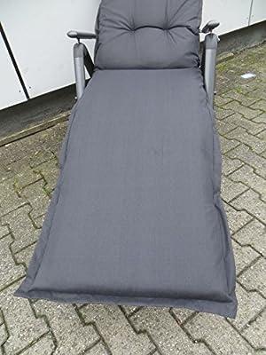 8 cm Luxus Relaxliegenauflage A 052 uni schwarz, UVP 49,95€ von Madison auf Gartenmöbel von Du und Dein Garten