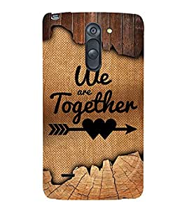 We Are Together Quote 3D Hard Polycarbonate Designer Back Case Cover for LG G3 Stylus :: LG G3 Stylus D690N :: LG G3 Stylus D690