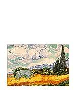 Arte Dal Mondo Pintura al Óleo sobre Lienzo Van Gogh Campo Di Grano E Cipressi
