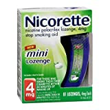 Nicorette Mini Lozenge (4 mg)  81-Count Package ~ Nicorette