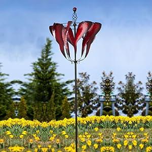 Amazon Com Abstract Tulip Spinner Kinetic Garden Art
