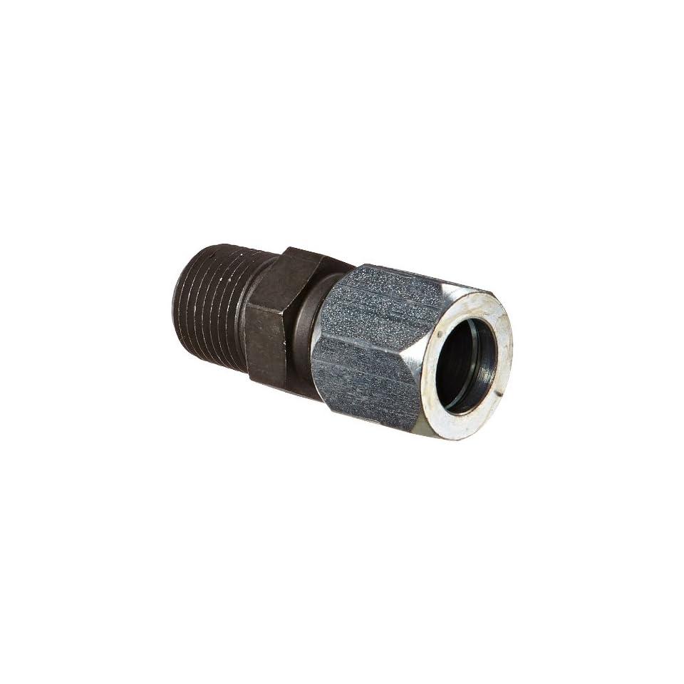 Eaton Weatherhead Carbon Steel Flareless 7000 Series Ermeto Tube Fitting, Male Connector, 1/2 NPT Male x 5/8 Tube OD