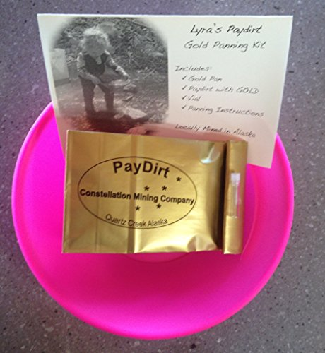 Pink Gold Panning Kit with Alaska Paydirt (Kids Gold Panning Kit compare prices)