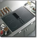 "GE PP989DNBB Profile 30"" Black Electric Smoothtop Cooktop - Downdraft"