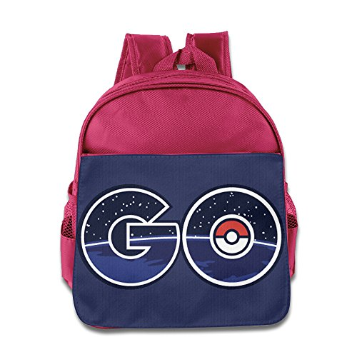 Pokemen Go Logo Children School Bags Pink