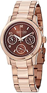 SO&CO York Women's 5012.4 Madison Analog Display Japanese Quartz Rose Gold Watch by SO&CO New York