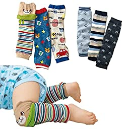 Luckystaryuan ® Big Discout!! Set of 6 Baby Leg Warmer Toddler Kneepads (boy style)