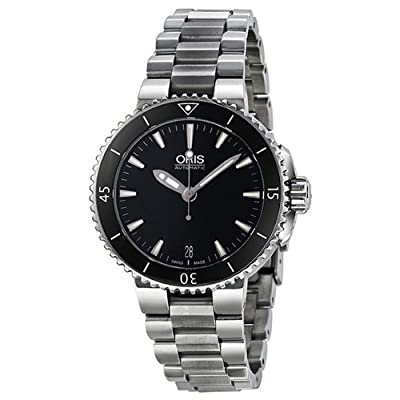 Oris Aquis Date Automatic Black Dial Stainless Steel Ladies Watch 01 733 7652 4154 07 8 18 01P