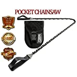 Pocket Chainsaw Survival Gear - Cutting Teeth Every Link - Best Lifetime Guarantee - The Best Cool Gadgets and Survival Tools - Great Military and Tactical Emergency Survival Kits
