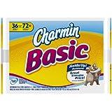 Charmin Basic Toilet Paper 36 Double Rolls = 72 Regular Rolls