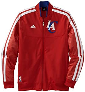 NBA adidas Los Angeles Clippers On-Court Weekday Full Zip Track Jacket - Red by adidas
