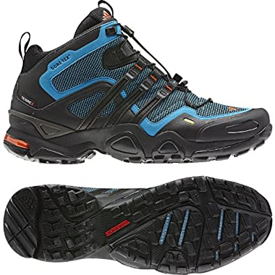 adidas Outdoor Terrex Fast X Formotion Mid Gore-Tex Hiking Boot - Men's Sharp Blue/Black/High Energy - 11.5