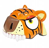Crazy.Stuff Kids Tiger Bicycle Helmet - Orange
