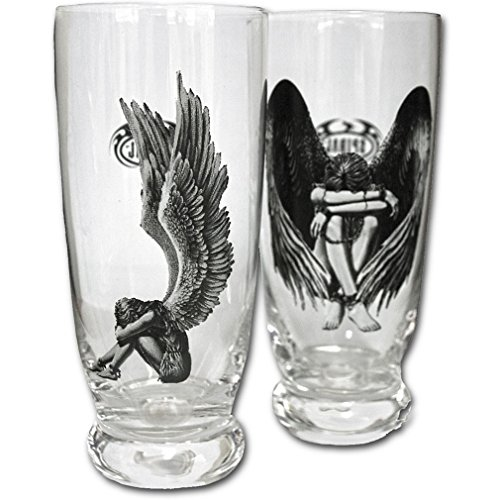 Spiral gotico Set di bicchieri vers klavter angelo - Enslaved Angel Water Glasses Set Of 2