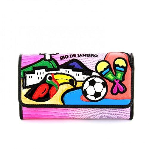 Portafoglio Braccialini Cartoline con clip Rio De Janeiro