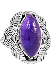 Xtremegems Amethyst 925 Sterling Silver Ring Jewelry Size 7.5 1677R