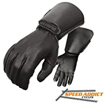 Olympia 144 Deerskin Classic Motorcycle Gloves (Black, X-Large)
