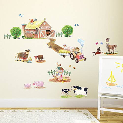 Decowall, DW-1407, Pony Club and Farm Animals Wall Stickers