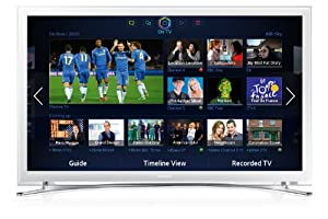 Samsung UE32F4510 32-inch Widescreen Full HD 1080p Slim Smart LED TV with Built-In Wi-Fi - White (New for 2013)